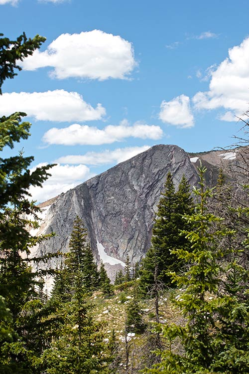 Mountains in Medicine Bow National Forest.